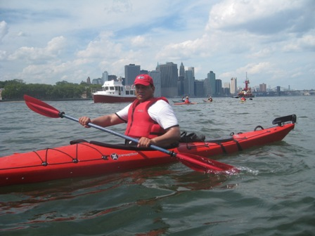 Kayaking is just one way to enjoy Gateway National Recreation Area while getting healthy exercise.