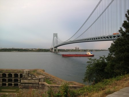 Fort Wadsworth stands on the Staten Island side of the Verrazano-Narrows Bridge.