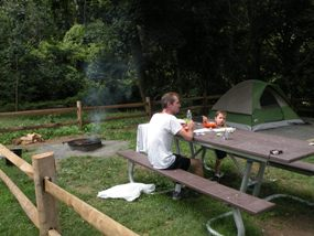 visitor's camping at Camp Gateway Staten Island-Hudson campground