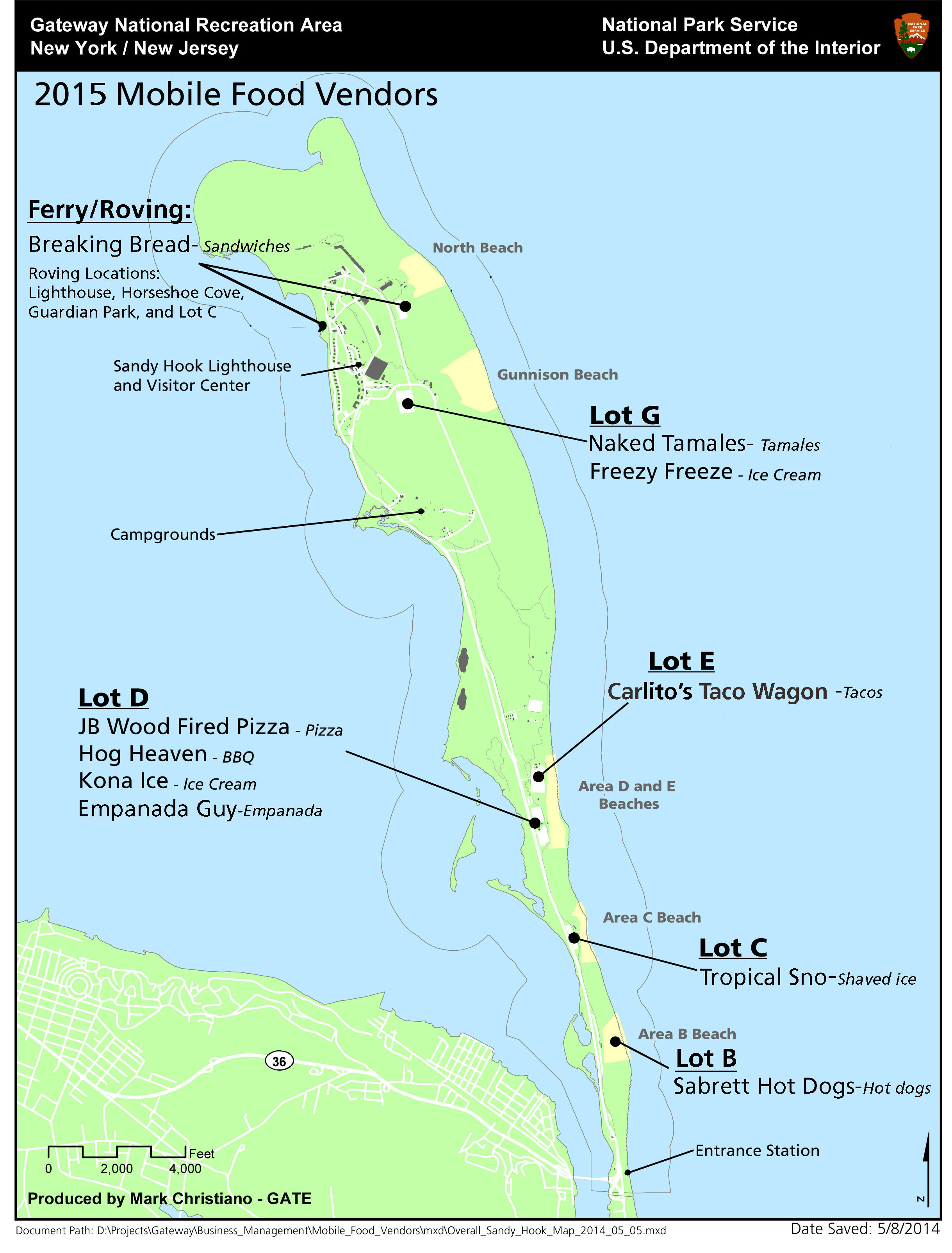 Sandy Island Beach State Park Map