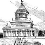 An early conceptual sketch of Grant's Tomb.