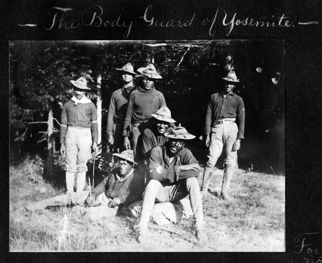 Buffalo soldiers at Yosemite National Park, NPS File Photo