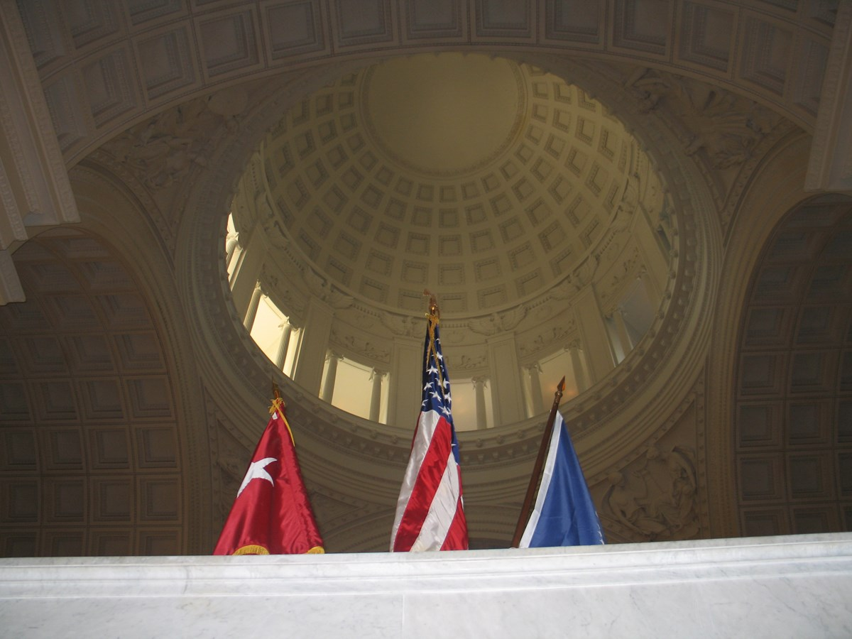 A somber view at Grant's Tomb