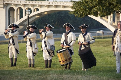 Fife and Drum corps at the Rendezvous