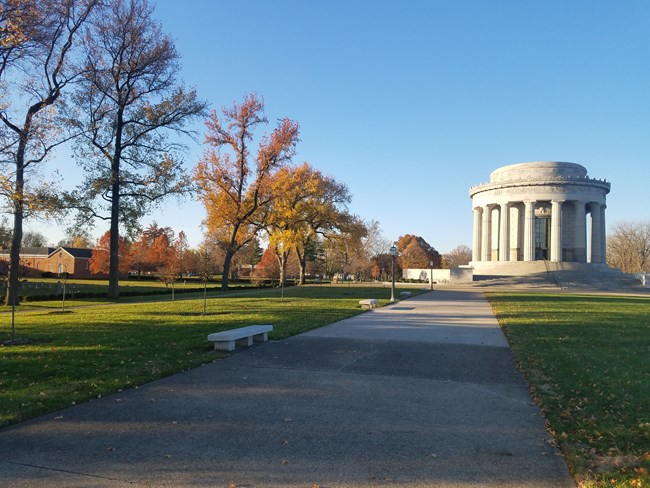 This is a picture of the George Rogers Clark Memorial Grounds