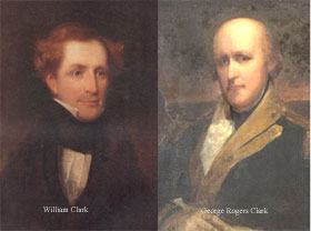 William Clark (left), George Rogers Clark (right)