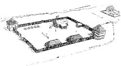 Drawing of British Fort Sackville