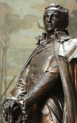 George Rogers Clark statue within the Clark memorial