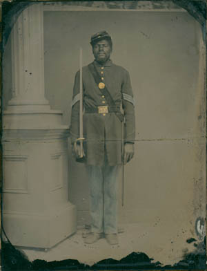 Photograph of Sgt. Henry Steward, 54th Massachusetts Infantry, from the Collections of the Massachusetts Historical Society