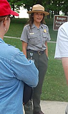 Ranger guided program at Gettysburg