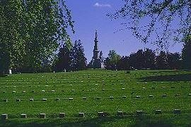 The National Cemetery at Gettysburg.