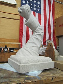 New sculpture for 11th MA Infantry monument.