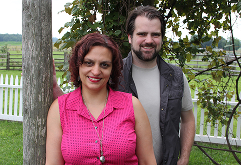 Michelle Bonczek Evory and Rob Evory at the Klingel Farm