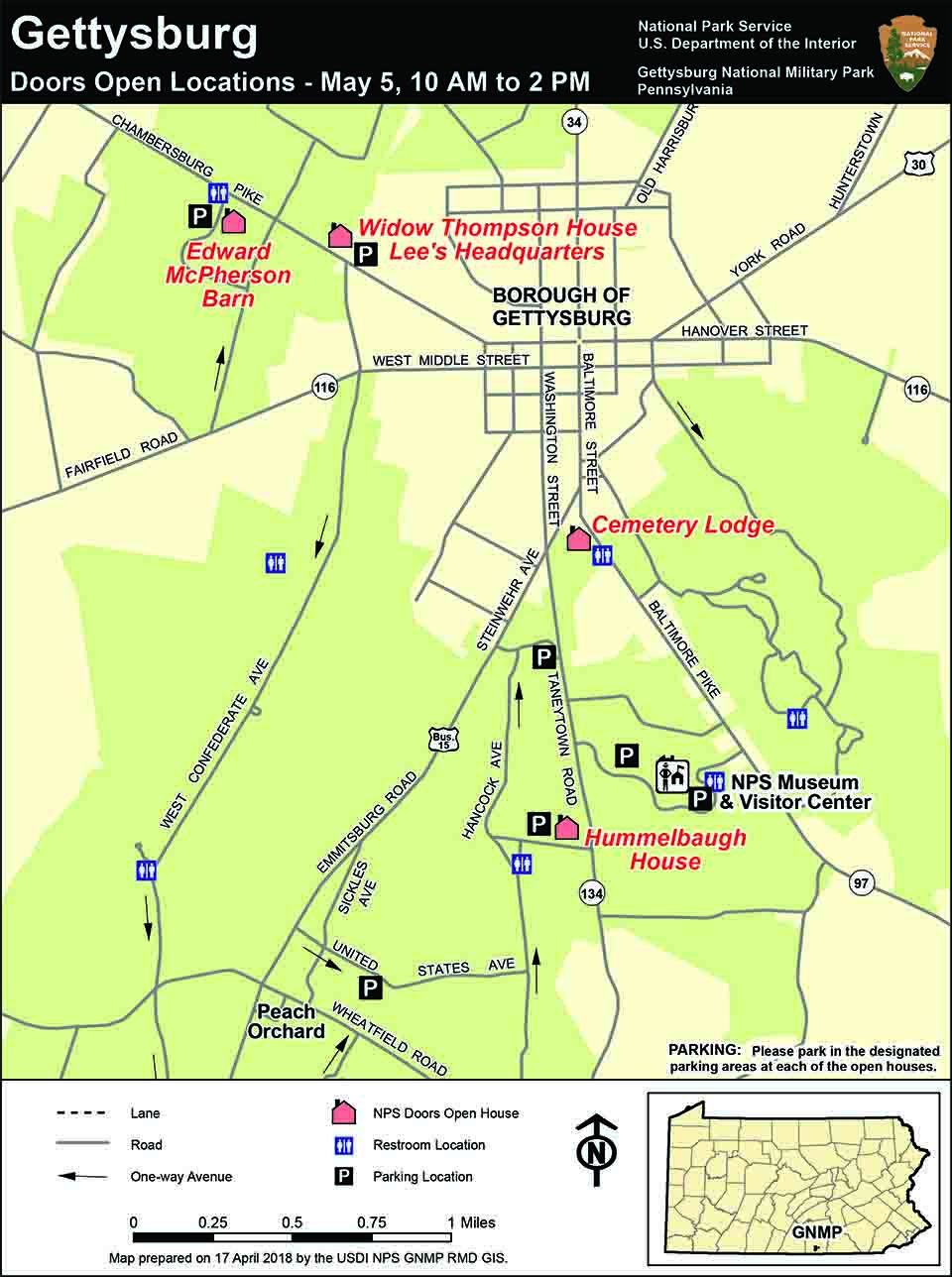 Event Details Gettysburg National Military Park Us National - Gettysburg-on-us-map