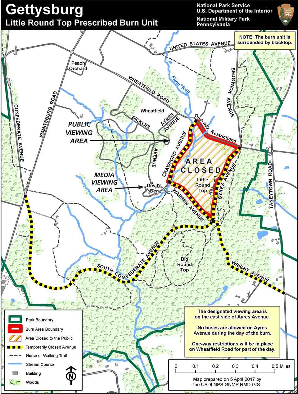 Gettysburg Us Map.Little Round Top Prescribed Fire Gettysburg National Military Park