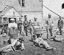 Former slaves and soldiers in Virginia 1862.