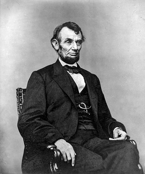 Abraham Lincoln sitting