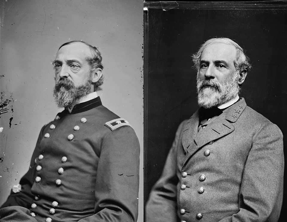 Union General George G. Meade and Confederate General Robert E. Lee