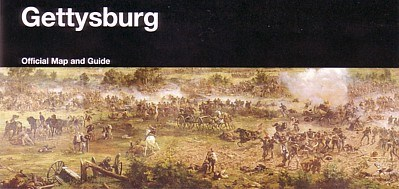 The cover of the park brochure includes a scene from the Cyclorama painting.