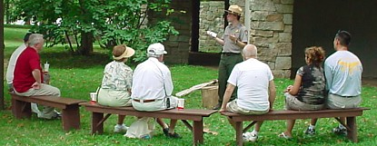 Interpretive program at Gettysburg.