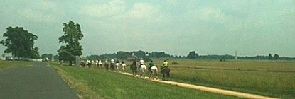 Riders on the bridle trail.