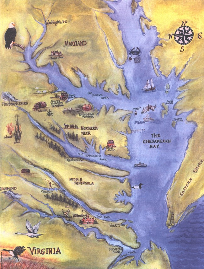 GEWA-CBLM-ED Chesapeake Bay Map Illustration 001 NPS-GEWA