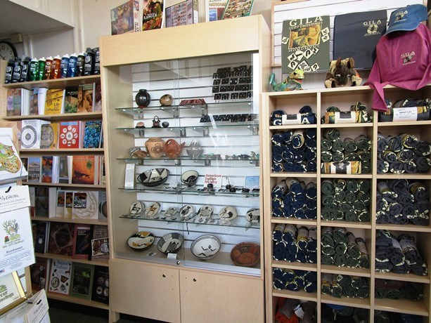 Native American pottery and other Park Store gifts