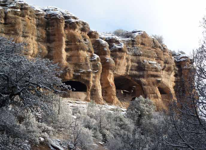 Winter view from Cliff Dweller Canyon.