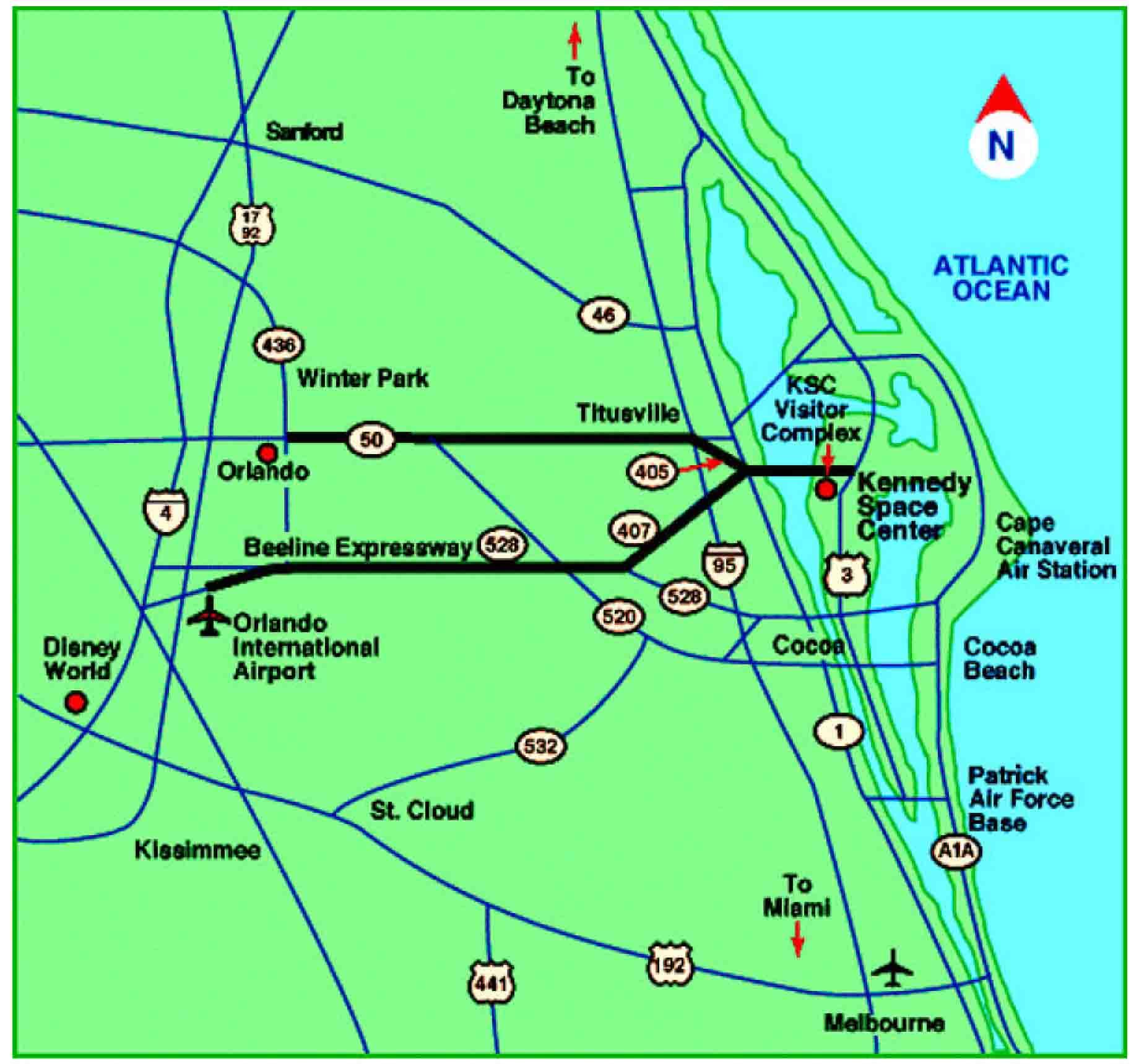 nasa kennedy center in florida map - photo #40