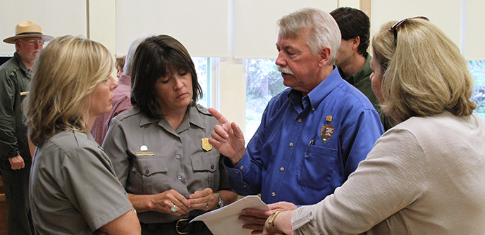 park employees talk to NPS Director Jarvis
