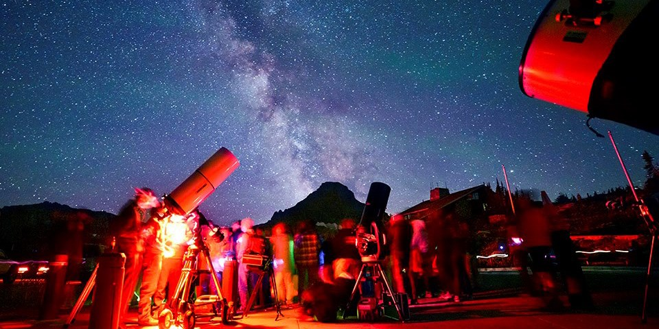 Logan Pass star parties provide incredible dark skies, lots of telescopes, and an opportunity to experience one of the darkest places in America.