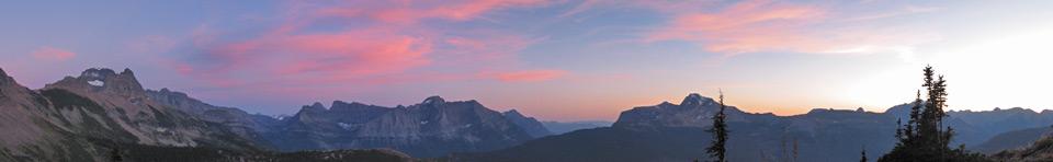 Puesta de sol en el Chalet Parque Granito