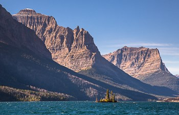Wild Goose Island in St. Mary Lake