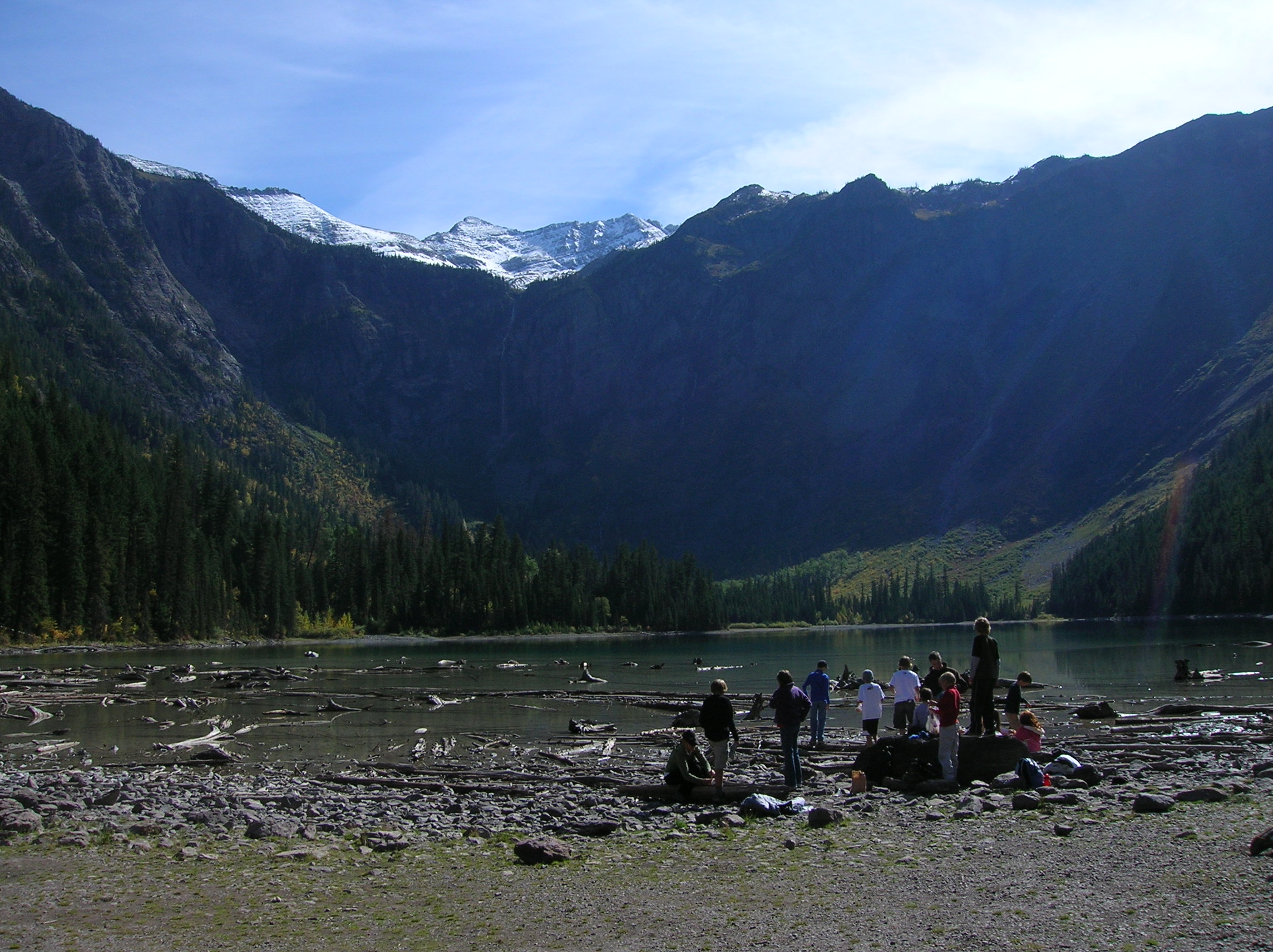 students at Avalanche Lake