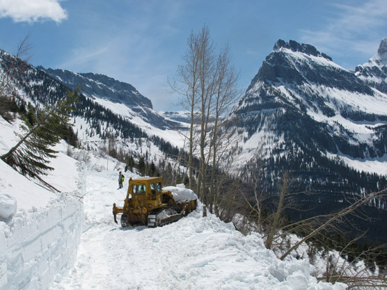Plowing on the Going-to-the-Sun road on May 18, 2011