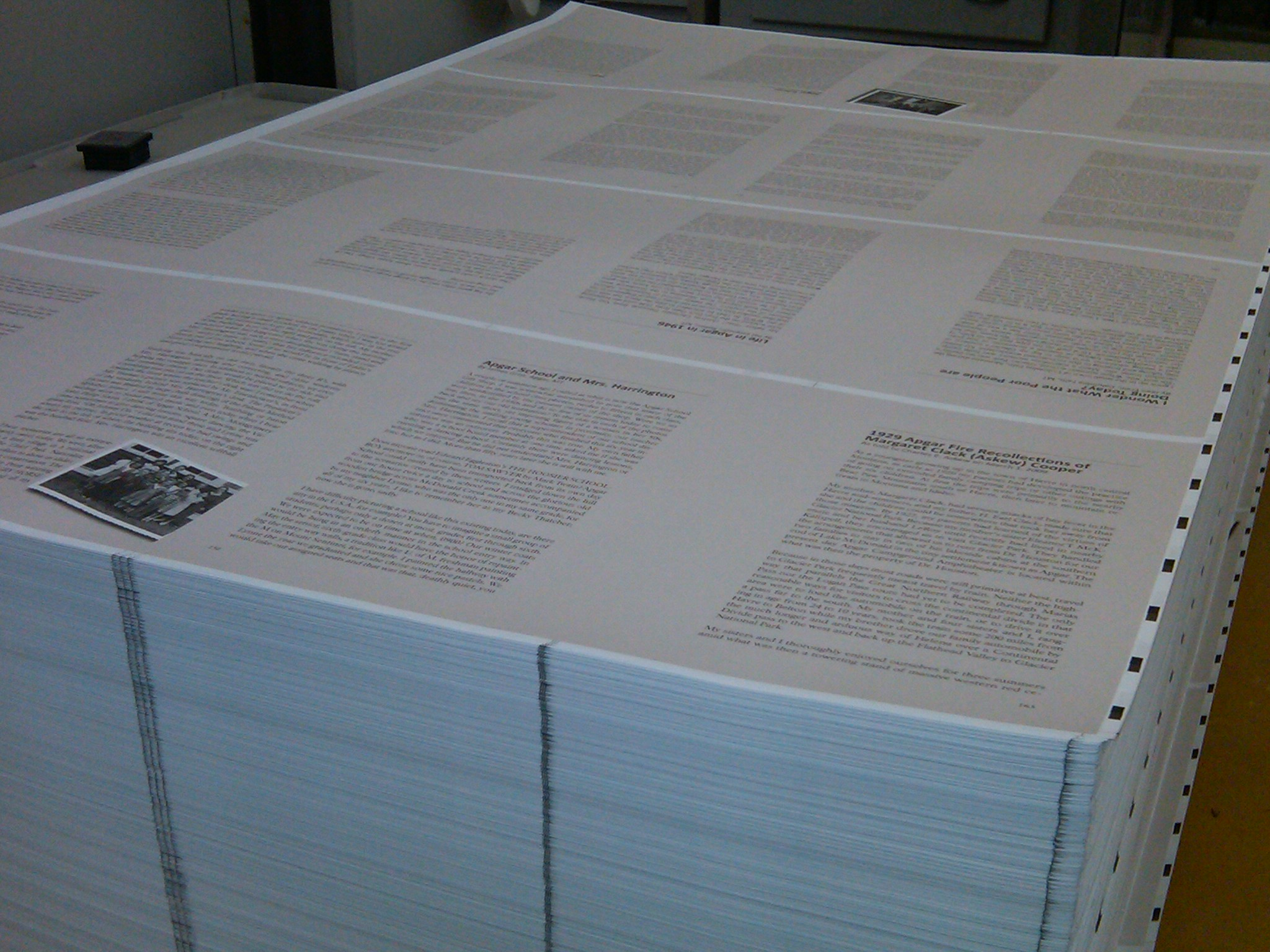 Commemorative story book in the print process.