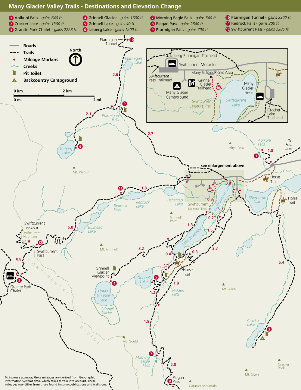 photo relating to Printable Map of Glacier National Park known as Mountaineering Lots of Glacier - Glacier Nationwide Park (U.S. Nationwide