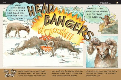 Sheep illustrations on Head Bangers wayside panel