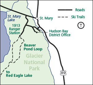 Ski trails in the St. Mary area