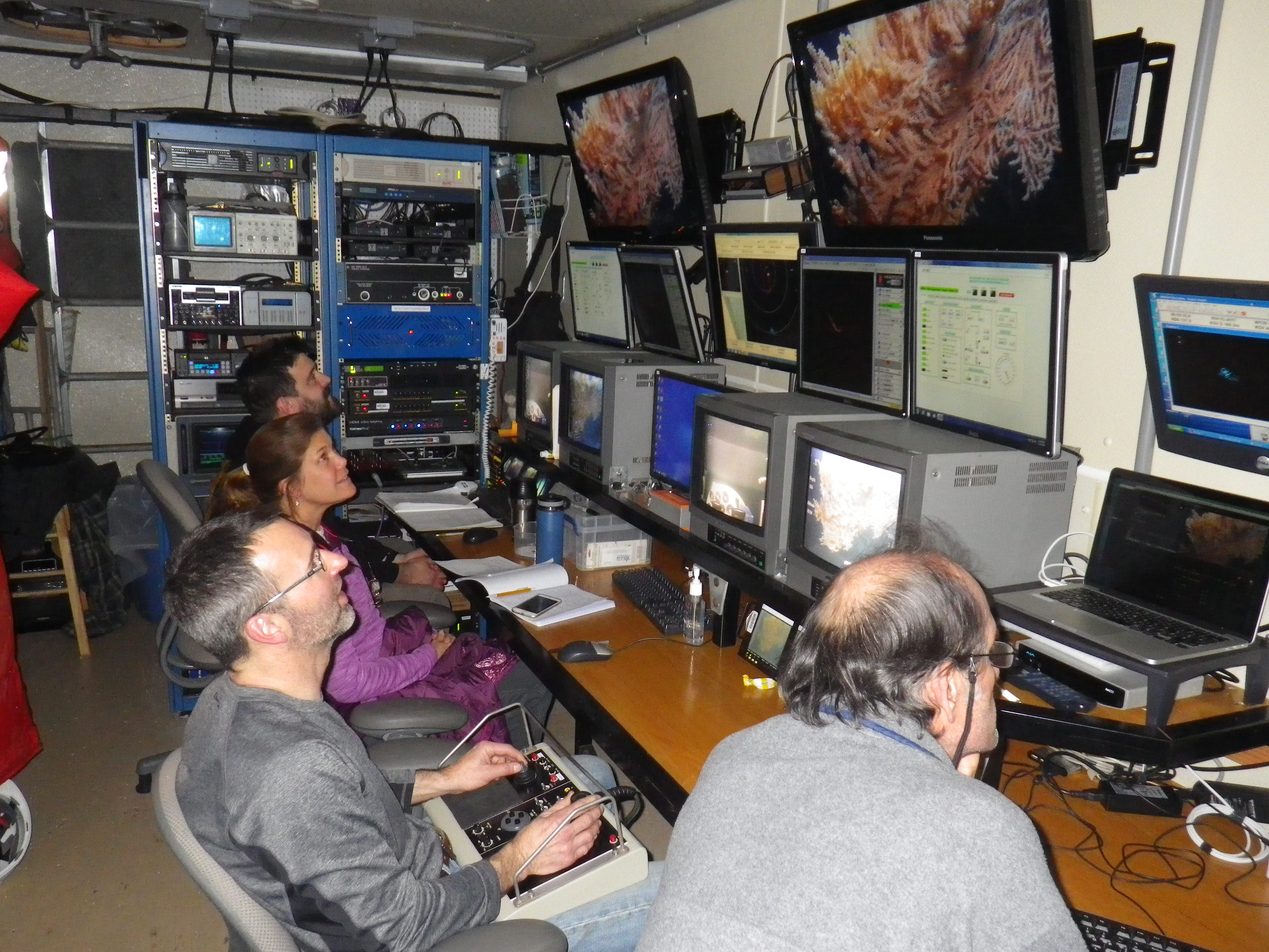 Scientists explore the depths of Glacier Bay with specialized equipment.
