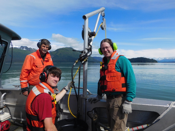 Scientists deploy oceanographic moorings