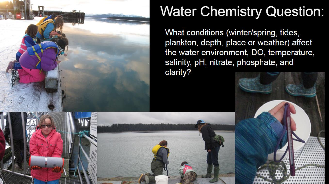Students conduct water chemistry research in Glacier Bay.