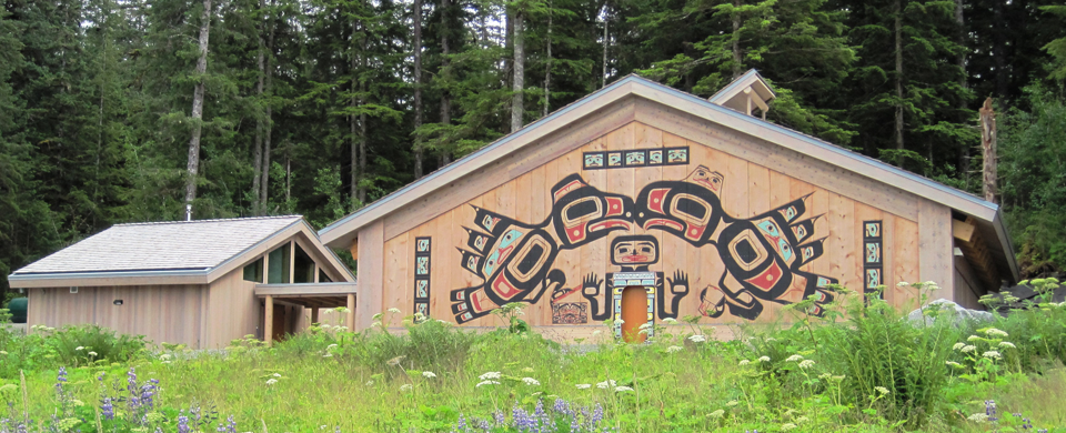 Front of the Huna Tribal House