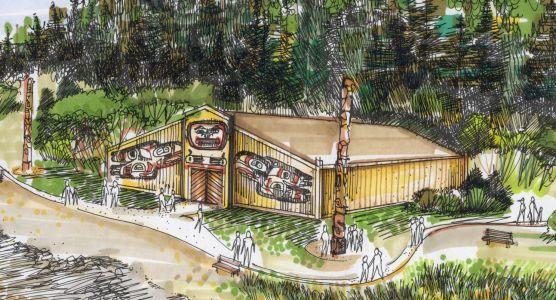 Huna tlingit tribal house proposed for glacier bay for Tribal house