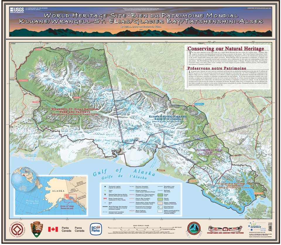 World heritage glacier bay national park preserve us national glba world heritage map gumiabroncs Images