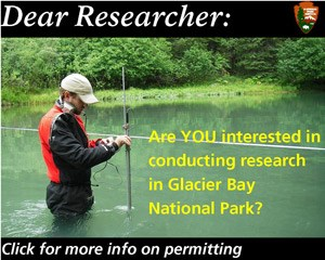 Are you interested in conducting research in Glacier Bay National Park? Select the image for more information.