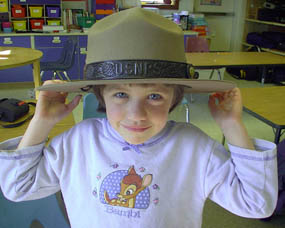 Junior Ranger with hat