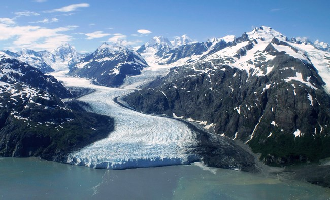 Aerial View of Margerie Glacier