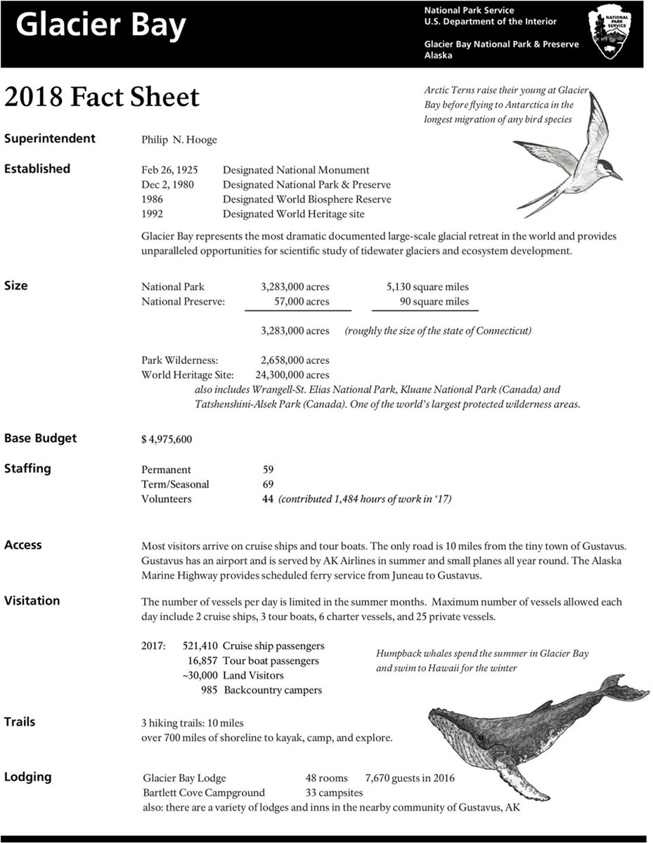 Glacier Bay Fact Sheet