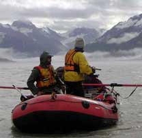 River Rafter on the Alsek River in Glacier Bay National Preserve
